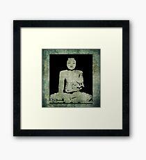 Green Tranquil Buddha Framed Print