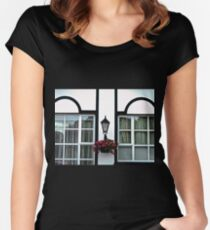 Crawfordsburn Cottage Abstract - Northern Ireland Women's Fitted Scoop T-Shirt