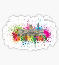 Washington DC Paint Splatter Sticker