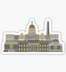 Washington DC Monuments and Landmarks Illustration Sticker