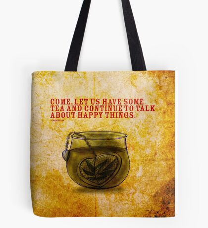 What my #Tea says to me - November 5, 2014 Pillow Tote Bag