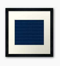 TARDIS Blueprint - Doctor Who Framed Print
