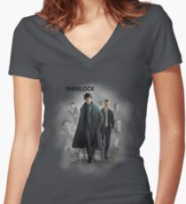 BBC Sherlock Women's Fitted V-Neck T-Shirt