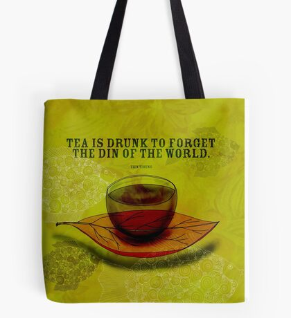 What my #Tea says to me - October 4, 2012 Tote Bag