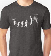 Basketball Evolution Funny T Shirt Slim Fit T-Shirt