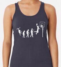 Basketball Evolution lustiges T-Shirt Tanktop für Frauen