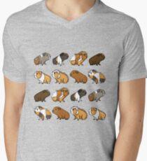 Guinea Pig Procession Men's V-Neck T-Shirt