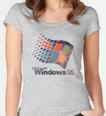 Windows 95 - Galaxy Fitted Scoop T-Shirt
