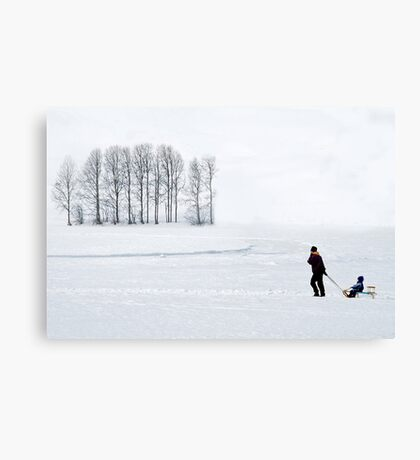 Mother in all weathers Canvas Print