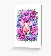 Year of the Pig - Chinese Zodiac Watercolour Greeting Card