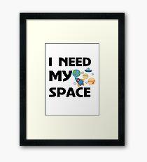 Space for kids Framed Print