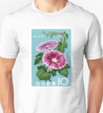 1961 Japan Morning Glory Postage Stamp T-Shirt