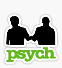Psych Fist Bump Sticker