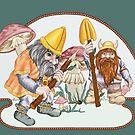Fearless Mushroom Hunters by redqueenself