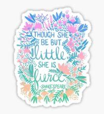 Little & Fierce – Lavender Mint Ombré Sticker