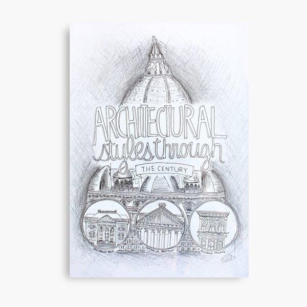 Architecture Through the Century Metal Print
