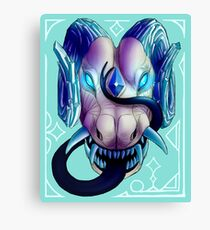 Blue-Eyed Dragon Canvas Print