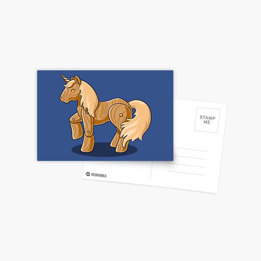 Unocchio the Wooden Unicorn Postcard