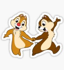 chip and dale Sticker