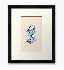 ElectroVideo Megadrive/Genesis (Blue) Framed Print