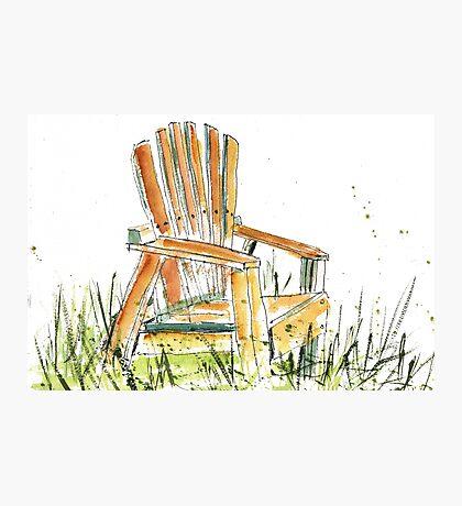 Beach Chair Photographic Print