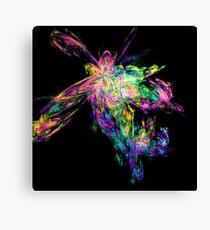 Rainbow coloured fractal design - titled Rainbow Explosion Canvas Print