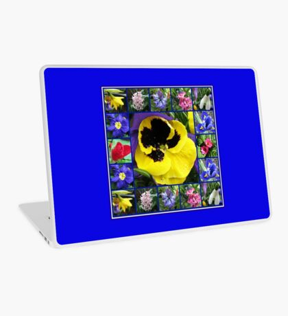 Riot of Colour Spring Flowers Collage Laptop Skin
