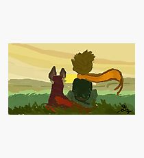 Little Prince and The Fox Photographic Print