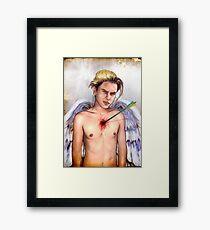 falling angel- river phoenix Framed Print