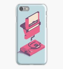 ElectroVideo Megadrive/Genesis (Pink and Blue) iPhone Case/Skin
