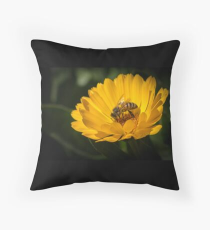 A Very Busy Bee Throw Pillow