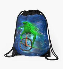dat boi space shirt (high resolution) Drawstring Bag