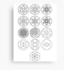 13 Circles | Sacred Geometry Metal Print