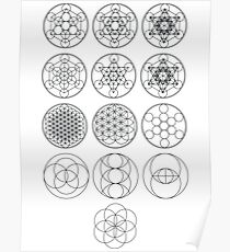 13 Circles   Sacred Geometry Poster