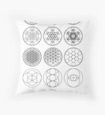 13 Circles | Sacred Geometry Throw Pillow