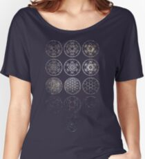 13 Circles [Tight Cluster Galaxy] | Sacred Geometry Women's Relaxed Fit T-Shirt