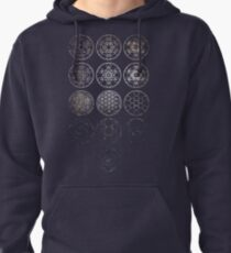 13 Circles [Tight Cluster Galaxy] | Sacred Geometry Pullover Hoodie