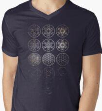 13 Circles [Tight Cluster Galaxy] | Sacred Geometry Men's V-Neck T-Shirt