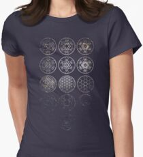 13 Circles [Tight Cluster Galaxy] | Sacred Geometry Women's Fitted T-Shirt