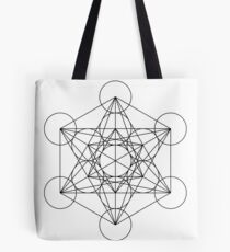 Metatron's Cube   Sacred Geometry Tote Bag