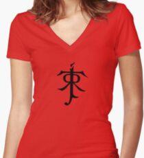 J.R.R. Tolkien Monogram Women's Fitted V-Neck T-Shirt