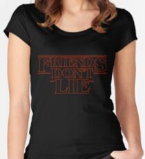 Friends Don't Lie - Stranger things Women's Fitted Scoop T-Shirt