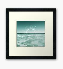 Sunrise in Aqua Framed Print