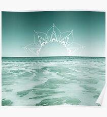 Sunrise in Aqua Poster