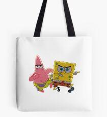 patrick and spongebob Tote Bag
