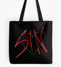 Sin Black Heart Tote Bag