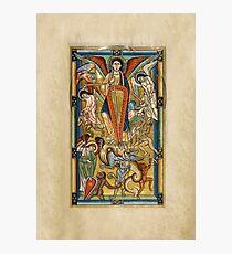 Saint Michael Battling the Dragon (1170 AD) Photographic Print