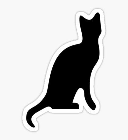 Halloween Black Cat Smooth Silhouette Sticker