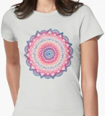 Ocean Sunset Mandala Womens Fitted T-Shirt