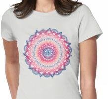 Ocean Sunset Mandala Womens Fitted T-Shirt